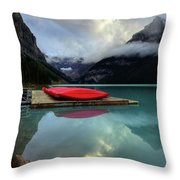 The Breathtakingly Beautiful Lake Louise II Throw Pillow