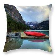 The Breathtakingly Beautiful Lake Louise IIi Throw Pillow