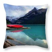 The Breathtakingly Beautiful Lake Louise Iv Throw Pillow