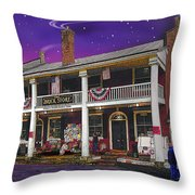 The Brick Store In Bath Throw Pillow