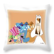 The Bridal Party Throw Pillow