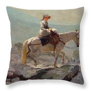 The Bridal Path Throw Pillow by Winslow Homer