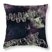 The Bride Of Frankenstein Throw Pillow by Al Matra