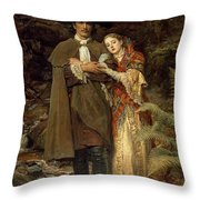 The Bride Of Lammermoor Throw Pillow