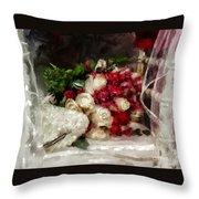 The Bride's Bouquet Throw Pillow