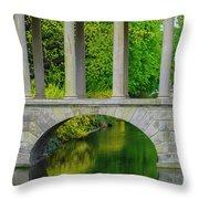 The Bridge Across The Pond Throw Pillow