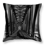 The Bridge At Mile 225 Throw Pillow