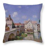 The Bridge At Moret Throw Pillow