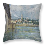 The Bridge At Saint Cloud Throw Pillow