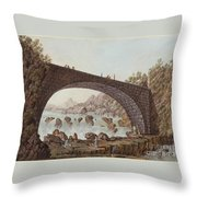 The Bridge At The Border Between France And Savoy Throw Pillow