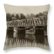 The Bridge At Washingtons Crossing Throw Pillow by Bill Cannon