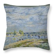 The Bridge Near Sevres Throw Pillow