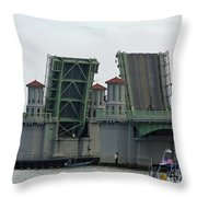 The Bridge Of Lions Open For Boats Throw Pillow