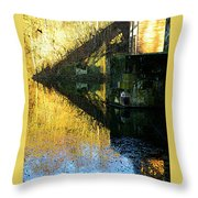 The Bridge On The River And Its Shadow. Throw Pillow