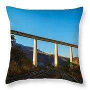 The Bridge Over The Railways Throw Pillow