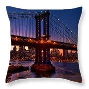 The Bridges At Dusk Throw Pillow
