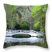 The Bridges In Magnolia Gardens Throw Pillow