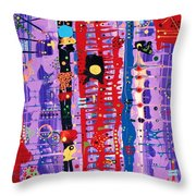 The Bright Red Ladder To Success Throw Pillow