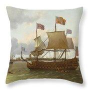 The Britannia In Rotterdam Throw Pillow