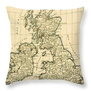 The British Isles Throw Pillow by Guillaume Raynal