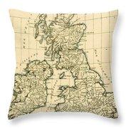 The British Isles Throw Pillow