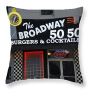 The Broadway 50 50 Throw Pillow