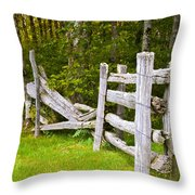 The Broken Barracade Throw Pillow
