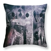 The Broken Head Throw Pillow