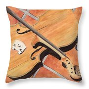 The Broken Violin Throw Pillow