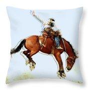 the Bronc Buster Throw Pillow