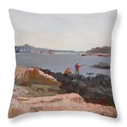The Bronx Rocky Shore Throw Pillow