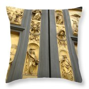 The Bronze Doors Throw Pillow