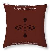 The Brothers Karamazov Greatest Books Ever Series 015 Throw Pillow
