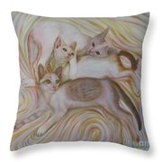 The Brothers Throw Pillow
