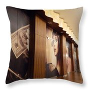 The Brown Room Throw Pillow