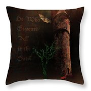 The Brown Tower Throw Pillow