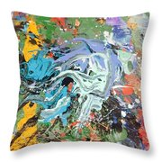 The Battle Of Salamis Throw Pillow