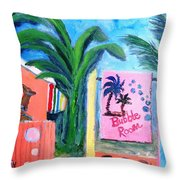 The Bubble Room Captiva Island Florida Throw Pillow