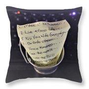 The Bucket List Throw Pillow