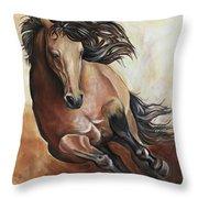 The Buckskin Gallop Throw Pillow
