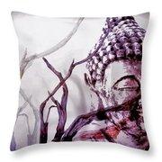 The Buddhist Sticks  Throw Pillow