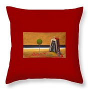the Buff House Throw Pillow
