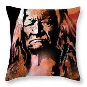 The Buffalo Hunter Throw Pillow