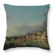 The Building Of Westminster Bridge Throw Pillow