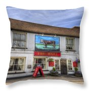 The Bull Pub Theydon Bois Panorama Throw Pillow
