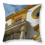 The Bullfight Throw Pillow