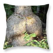 The Bum Tree Throw Pillow