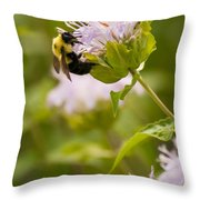 The Bumble Bee Throw Pillow
