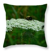 The Bumblebee And The Fly Throw Pillow