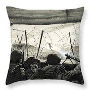 The Bunker  Throw Pillow
